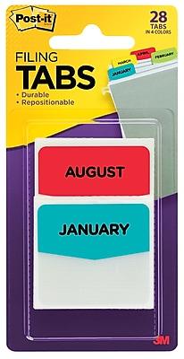 Post-it® Tabs, Pre-Printed Months, 1.75