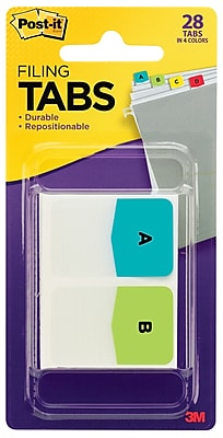 Post-it® Tabs, Pre-Printed Letters, 1
