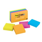 """Post-it® Super Sticky Notes, 2"""" x 2"""" Rio De Janeiro Collection, 90 Sheets/Pad, 8 Pads/Pack (622-8SSAU)"""