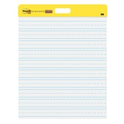 "Post-it® Self-Stick Wall Pad, 20"" x 23"", White, Primary Ruled, 2 Pads/Pack (566PRL)"