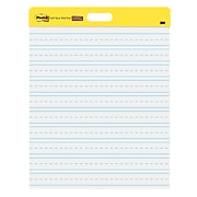 """Post-it® Self-Stick Wall Pad, 20"""" x 23"""", Primary Ruled, 20 Sheets/Pad, 2 Pads/Pack (566PRL)"""