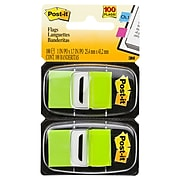"""Post-it® Flags, 1"""" Wide, Green, 100 Flags/Pack (680-BG2)"""
