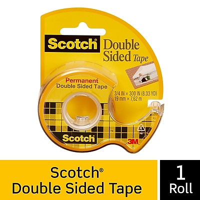 Scotch® Removable Double Sided Tape with Dispenser, 3/4