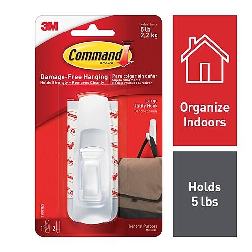 Command™ Large Utility Hook, White (17003-ES)