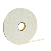 """LOT OF 5 ROLLS OF Double-sided Foam Adhesive Tape EACH ROLL 1//4/"""" wide 12 FT long"""