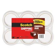 Scotch® Commercial Grade Packing Tape, 55 yds., Clear, 6 Rolls/Pack (3750-6)