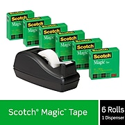 "Scotch® Magic™ Invisible Tape, 3/4"" x 27.77 yds., 6 Rolls (810C40BK)"