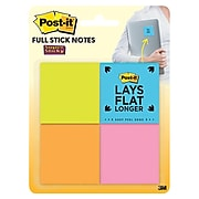 """Post-it® Super Sticky Full Adhesive Notes, 2"""" x 2"""" Rio De Janeiro Collection, 25 Sheets/Pad, 8 Pads/Pack (F220-8SSAU)"""