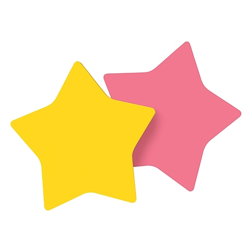 post it die cut memo cube assorted colors 3 x 3 star shaped 2