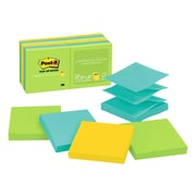 "Post-it® Pop-up Notes, 3"" x 3"" Jaipur Collection, 100 Sheets/Pad, 12 Pads/Pack (R330-12AU)"