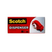 """Scotch® Packing Tape Hand Dispenser, 3"""" Core, Red (DP-300-RD)"""