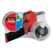 Scotch® Heavy Duty Shipping Packing Tape with Heavy Duty Dispenser, 55 yds., Clear (3850-2ST)