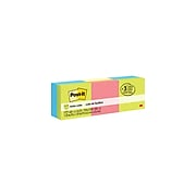 """Post-it® Notes Cube, 2"""" x 2"""" Assorted Colors, 400 Sheets/Pad, 3 Cubes/Pack (2051-3PK)"""