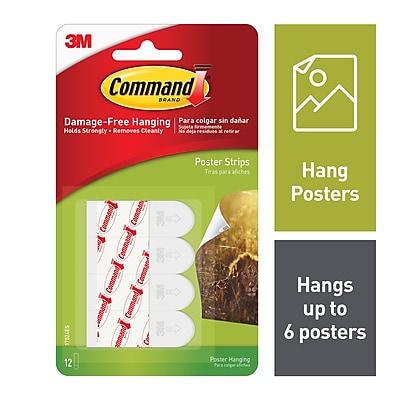 Command Poster Strips White 12pack Staples