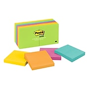 """Post-it® Notes, 3"""" x 3"""" Jaipur Collection, 100 Sheets/Pad, 14 Pads/Pack (654-14AU)"""