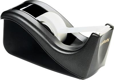 Scotch® Desktop Tape Dispenser, Black Two-Tone (C60-BK)