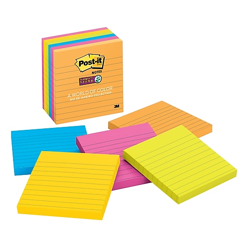 Post It Super Sticky Notes Rio De Janeiro Collection 4 X 4