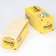 """Post-it® Notes, 3"""" x 3"""", Canary Yellow, 90 Sheets/Pad, 18 Pads/Pack (654-18CP)"""