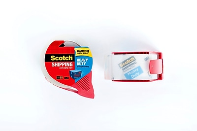 Scotch® Heavy Duty Shipping Packing Tape with Dispenser, 55 yds., Clear (3850-RD)