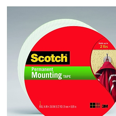 Scotch® Double Sided Indoor Mounting Tape, 3/4