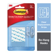 Command™ Medium Refill Strips, Clear, 9/Pack (17021CLR-ES)