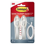 Command™ Cord Bundlers, White, 2 Bundlers (17304-ES)