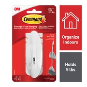 Command™ Large Wire Hook, White, Each (17069-ES)