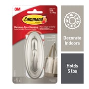 Command™ Large Traditional Hook, Brushed Nickel (17053BN)