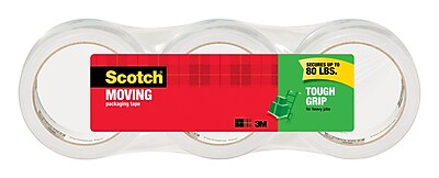 Scotch® Tough Grip Moving Packing Tape, 44 yds., Clear (3500-40-3)
