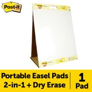 "Post-it® Super Sticky Tabletop Easel Pad with Dry Erase Surface, 20"" x 23"", White (563DE)"
