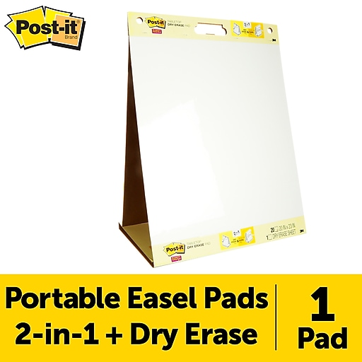 Post it tabletop easel pad with dry erase white 20 x 23
