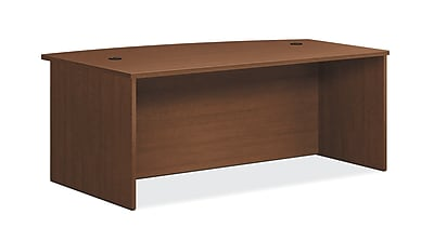 HON Foundation Desk Shell, Bow Top, 72