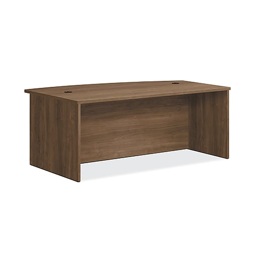 "HON Foundation Desk Shell, Bow Top, 72""W x 42""D, Pinnacle Finish (HONLM7242PNC)"