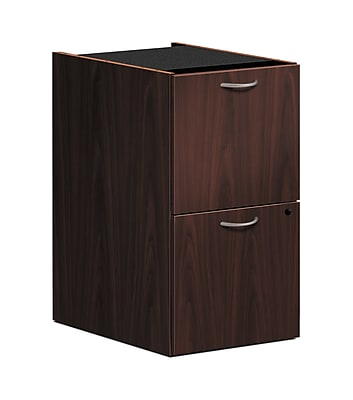 HON Foundation Pedestal File, 2 File Drawers, Mahogany Finish (HONLMFFN) NEXTExpress NEXT2019