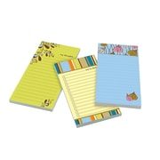 "Post-it® Super Sticky Designer Notes with Magnets, 4"" x 8"", Assorted Colors, Each (7366-OFF3)"