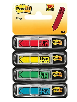 Post-it® 'Sign Here' Message Flags, .47