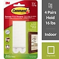 Command™ Large Picture Hanging Strips, White, 4 Sets (17206-ES)