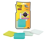 """Post-it® Super Sticky Full Adhesive Notes, 2"""" x 2"""" Bora Bora Collection, 25 Sheets/Pad, 8 Pads/Pack (F220-8SSFM)"""