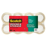 Scotch®  Premium Thickness Moving & Storage Packing Tape, 60 yds., Clear, 8 Rolls/Pack (3631-54-8)
