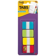 """Post-it® Tabs, 1"""" Wide, Solid, Assorted Colors, 88 Tabs/Pack (686-ALYR1IN)"""