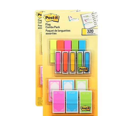 Post-it® Flags Combo Pack, .47