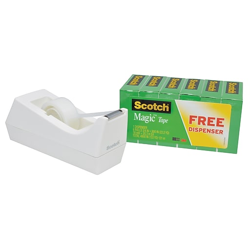 "Scotch® Magic™ Tape with Desktop Dispenser, 3/4"" x 22 yds. (810S6C38-MX)"