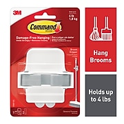 Command™ Large Broom and Mop Gripper, White/Gray, Each (17007-ES)