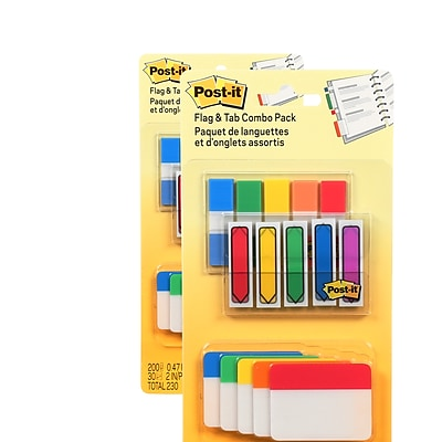Post-it® Flags and Tabs Combo Pack, .47