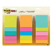 "Post-it® Super Sticky Notes, 3"" x 3"" Miami Collection, 45 Sheets/Pad, 15 Pads/Pack (654-15SSMULTI2)"
