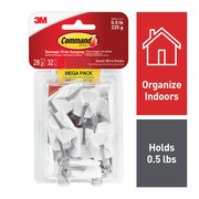 Command™ Small Wire Hooks Mega Pack, White, 28/Pack