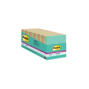 """Post-it® Super Sticky Notes, 3"""" x 3"""" Miami Collection, 100 Sheets/Pad, 24 Pads/Pack (654-24SSMIA-CP)"""