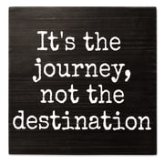 Lawrence Frames It's The Journey, Not The Destination  8X8 Wood Box Sign (637888LK)