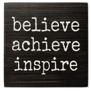 Lawrence Frames Believe, Achieve, Inspire 6X6 Wood Box Sign (637166LK)