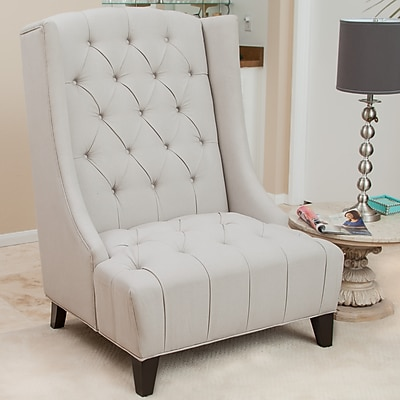 Noble House Goodman Fabric Accent Chair Beige Single (238476)
